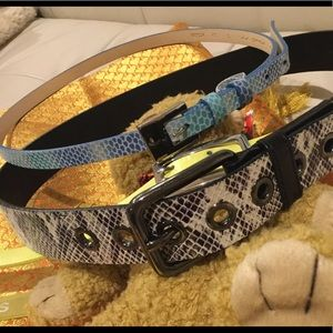 Via Spiga Italian leather LUXE quality two belts